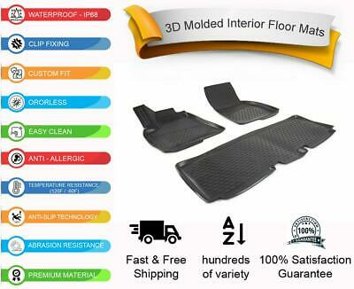 Fit Tesla Model S All Weather Thermo Floor Mat 3D Design 4 Pcs 2012-2018