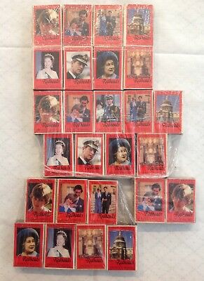 """Collection O """"Redhead"""" Matches Featuring Prince Charles & Princes Diana Wedding"""