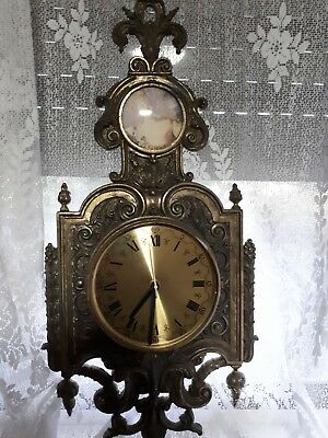 Vintage Solid Brass Wall Clock