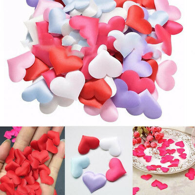 100pcs Heart Fabric Confetti Table Scatter Decor Wedding Decor Party Supplies