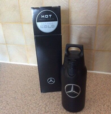 Genuine Mercedes-Benz SIGG Thermo Mug 0.3L  Hot & Cold Black Stainless Steel NEW