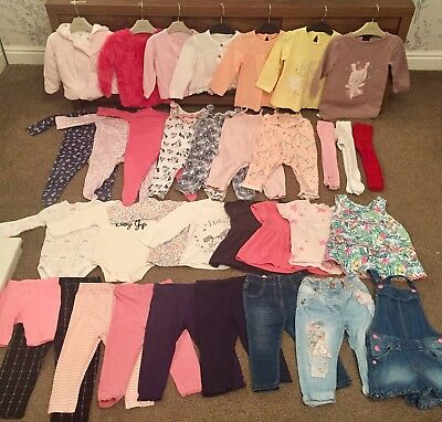 Baby Girls Clothing Bundle NEW & USED 9-12 Months Next, Gap, River Island, M&S
