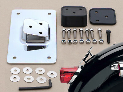 Laydown License Plate Mounting Bracket for Harley Big Twins Dynas Sportster