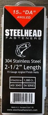 """15 Gauge """"Da"""" Nails 33-34 Angled 304 Stainless Steel - 1M"""