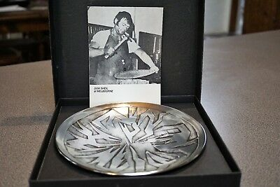 Don Sheil-Australian Artisan in Metal Alloy-Round Plate -signed Don Sheil 1980