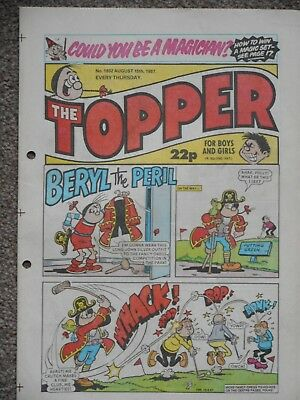 The Topper Comic 15th August 1987 (Issue 1802)