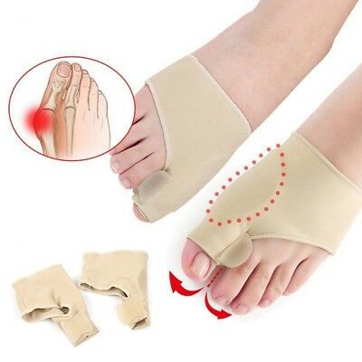 2Pcs Big Toe Bunion Splint Straightener Corrector Foot Pain Relief Hallux Valgus