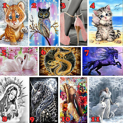 5D DIY Diamond Painting Embroidery Cross Craft Stitch Art Kit Home Decor Full Dr