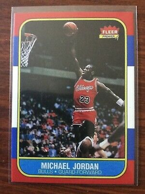 Fleer Michael Jordan Chicago Bulls #57 Basketball Rookie Card RC Reprint MT-NRMT