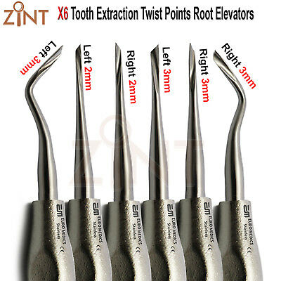 Twisted Points Elevators Oral Tooth Surgery Root Extracting Forceps Veterinary
