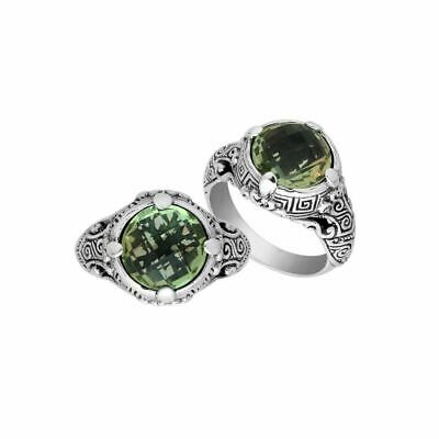 """Sterling Silver Ring With Green Amethyst AR-6232-GAM-7"""""""