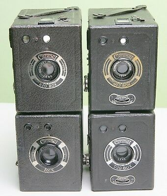 Four Different Coronet Box Cameras For Display