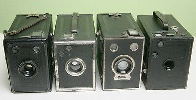 Four Different German Box Cameras For Display
