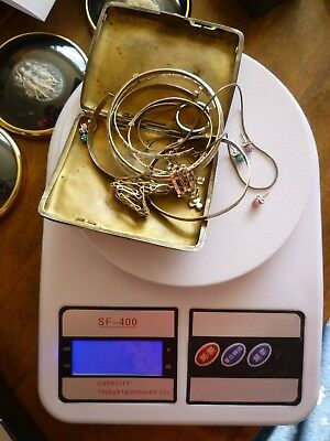 122 Gram Scrap Hallmarked Silver - Some Easily Repairable - 99p Start NO RESERVE