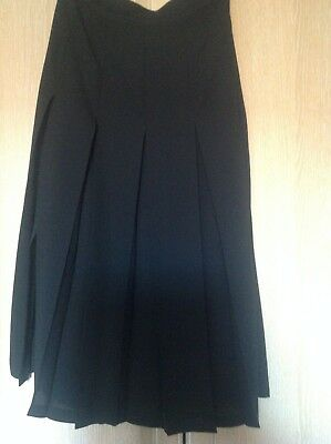 Lightly Worn Ladies Black Pleated Skirt With Splits From J Taylor Uk 14