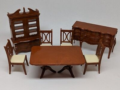 VTG Lot of Reliable Dollhouse Furniture Dining Room Set Table Cabinet Canada