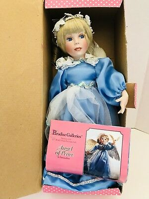 """14"""" PARADISE GALLERIES """"ANGEL OF Peace"""" PORCELAIN DOLL BY PATRICIA ROSE W/COA"""