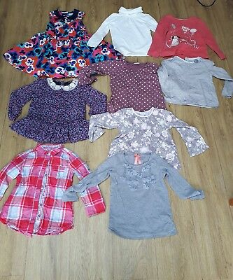 x9 Girls bundle age 3-4 years Tops Party Dress inc M&S Next