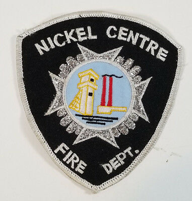 Vintage Nickel Centre Ontario Canada FIRE Department Embroidered PATCH Obsolete