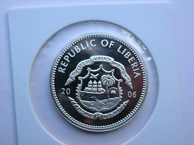 5 Dollar for the Beiling 2008 Olympic Cames Republic of Liberia 2006