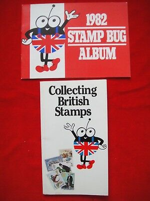 1982 STAMP BUG ALBUM + COLLECTING BRITISH STAMPS ~ 2x BOOKLETS