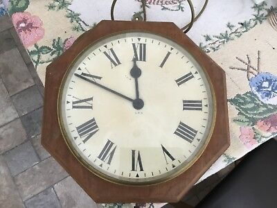 "Vintage GPO Electric Wall Clock 12"" Dial"