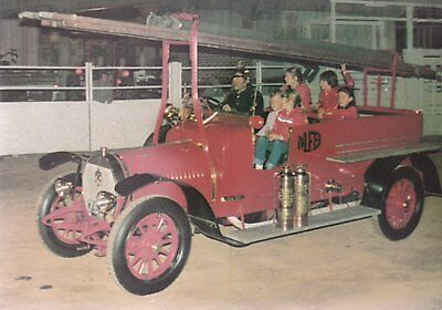 1914 Hotchkiss 40hp, 4 cyl, 200 gpm Motorised Pumper from Queensland - POSTCARD