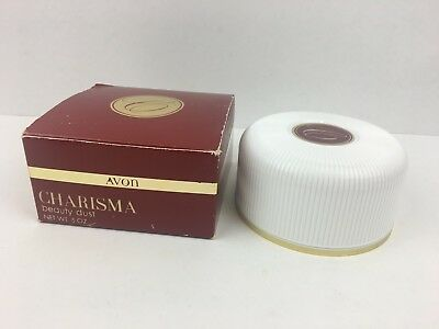Vintage AVON unused 5oz CHARISMA Beauty Dust with box canister & puff