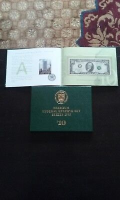 12 Premium Federal Reserve Set Series 1995 US Currency $10