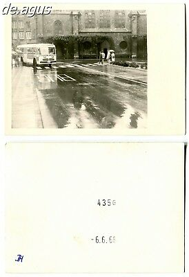 Vintage Photo from 1966 driving Mercedes Benz Bus