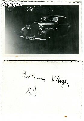 Vintage Photo circa 1930s Mercedes Benz Classic car with IA german license plate