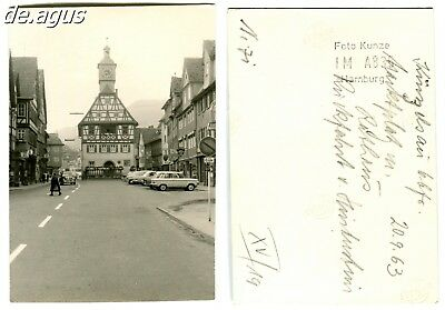 Vintage Photo from 1963 Marketplace, townhall,cars,vw beetle