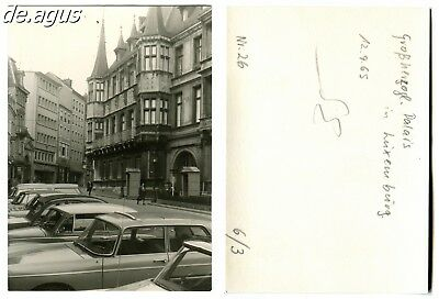 Vintage Photo from 1965 Luxembourg,lined up of cars,Citroën 2CV