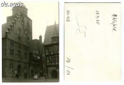 Vintage Photo from 1965 Alsfeld- Marketplace ,BMW  Isetta driving car