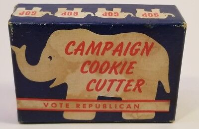 Vintage GOP Republican Campaign Elephant Cookie Cutter in box