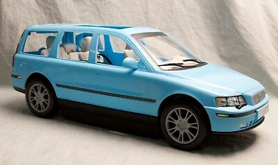 Barbie Doll Volvo Car Blue With Seat Toy Plastic