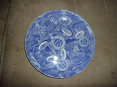 """Spode Blue Room Collection 11 7/8"""" Sunflower Pasta Serving Bowl England Mint"""