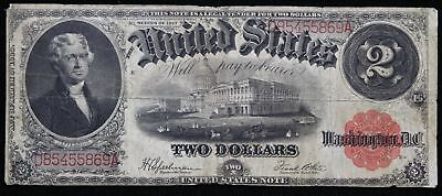 Fr-60 1917 $2 Legal Tender Two Dollar Large Size VG