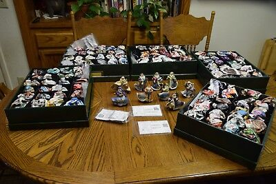 All 120 ASHTON DRAKE THOMAS KINKADE OLD WORLD SANTA CHRISTMAS ORNAMENTS complete