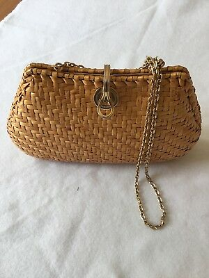 Vintage Rodo Italian Leather Lined Whicker Bag