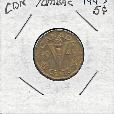 Tombac - 1943 - 5 cents Canadian nickel