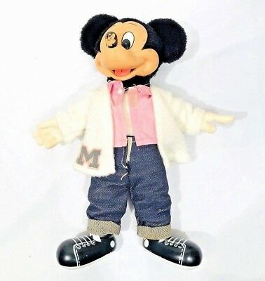 Mickey Mouse Doll Walt Disney Sock Hop by Applause Vintage 1981