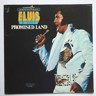 Elvis Presley-Very Tough To Find Usa Promised Land Black Label Quadradisc