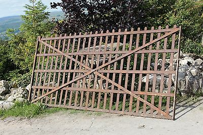 Antique Estate Gate Blacksmith Made Strap And Riveted 10 Foot Georgian/Victorian