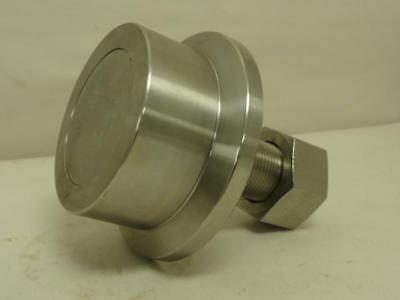 """168698 New-No Box, PCI FTRE-3.50 Flanged Track Roller, SS, 3-1/2"""" Roller OD"""