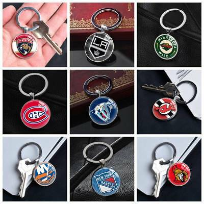 NHL American Ice Hockey League Team Keychains Silver Key Ring Pendants Gifts