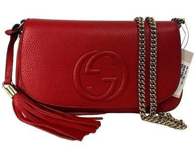 47e5924f0532ef GUCCI Soho cross-body bag with chain Medium Disco Medium 336752 WITH RECEIPT