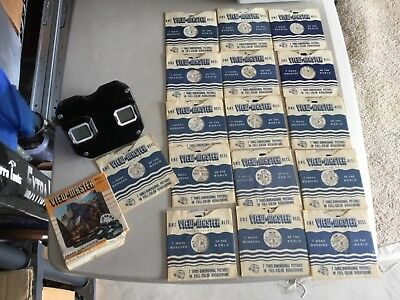 Vintage Sawyer 3-D View-Master Viewer Model E With 16 Reels & Reel List