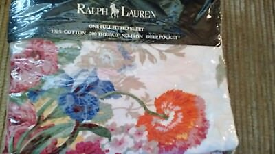 Ralph Lauren vintage Southampton Multi Full Size fitted sheet - New in package!