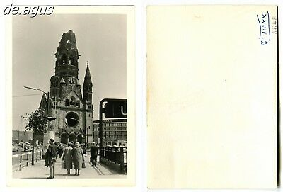 Vintage Photo circa 1960s Berlin-Church,rear view of People,driving cars,vw beet